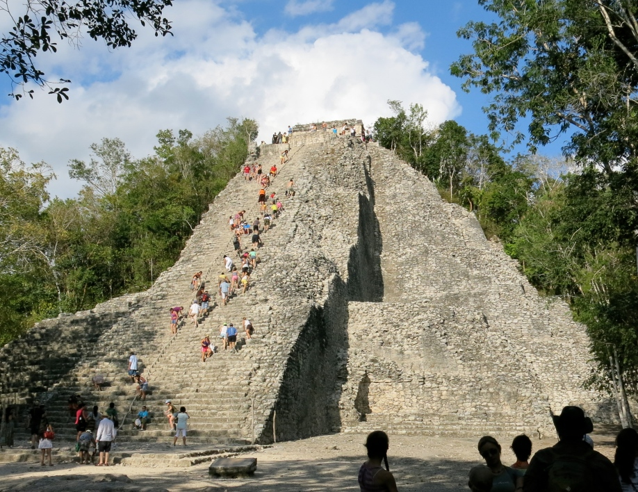 The pyramid at Coba is the highest in the Yucatan at 42 metres.