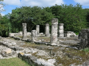 Round columns supported buildings at San Gervasio which drew pilgrims from mainland.