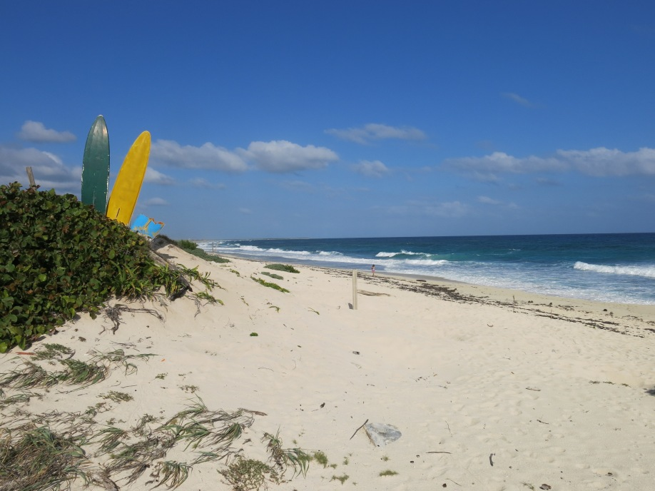 Beaches on west side of Cozumel are vast and unspoilde.