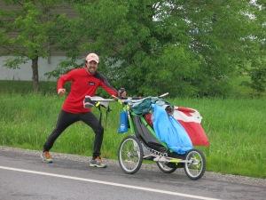 JAMIE McDONALD MOVING ALONG HIGHWAY 132 NEAR LA POCATIÈRE, QC