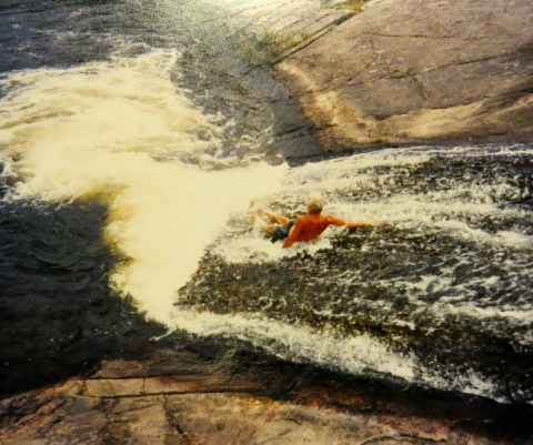 The water slide at High Falls near Achray