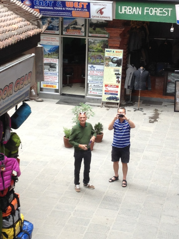 JOSEPH AND RUDY ON STREET OF KATHMANDU